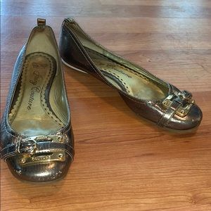 Juicy Couture | Gold Metallic Flats